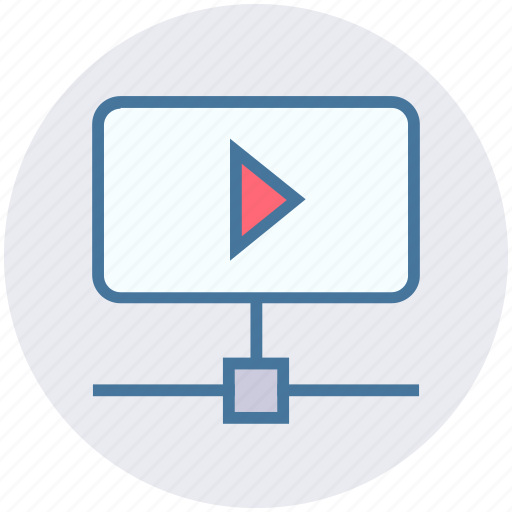 media player, multimedia, multimedia network, server, video player, video sharing icon