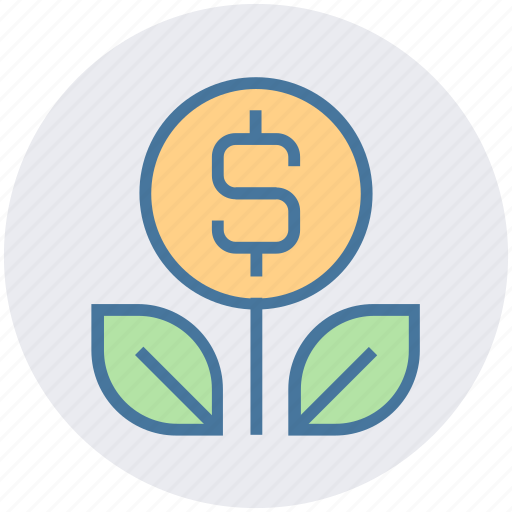 dollar, dollar plant, finance, financial, growth, money, payment icon