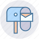 box, envelope, letter, post, postbox, seo icon