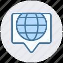 chat, communication, globe, marketing, seo, talk, world icon