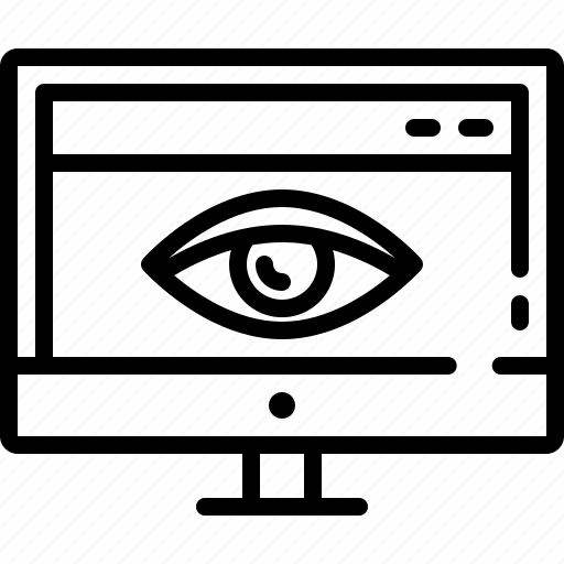 monitoring, overview, pretense, visibility, visible, web, web visibility icon