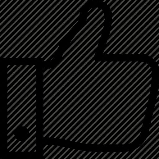 hand, like, media, social, thumb up icon
