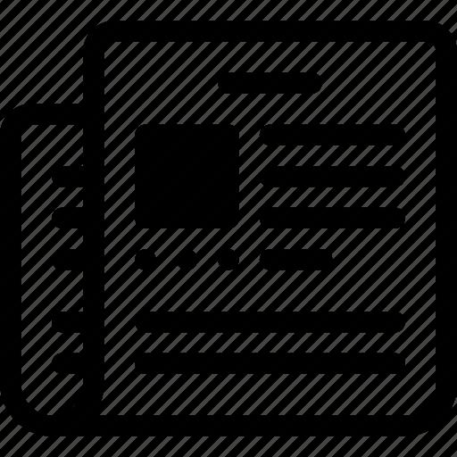media, news, newspaper, press, release icon