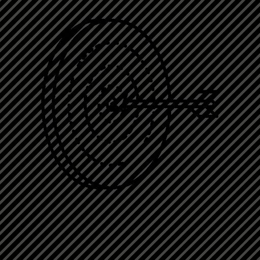 focus, marketing, mission, relevant, target icon