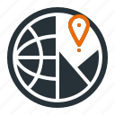 analysis, global, location, marketing, seo icon