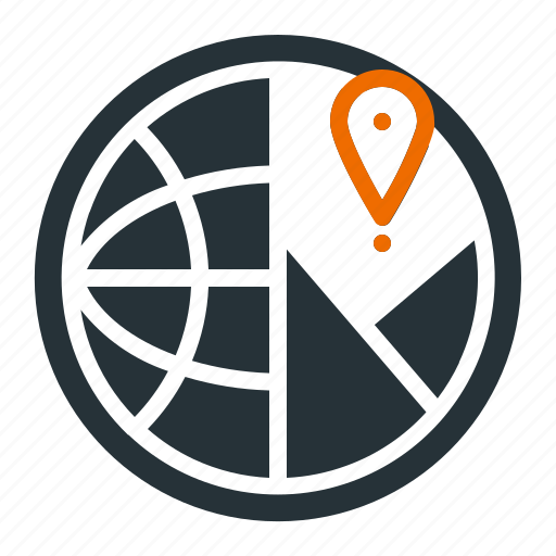 analysis, global, location, marketing, seo icon