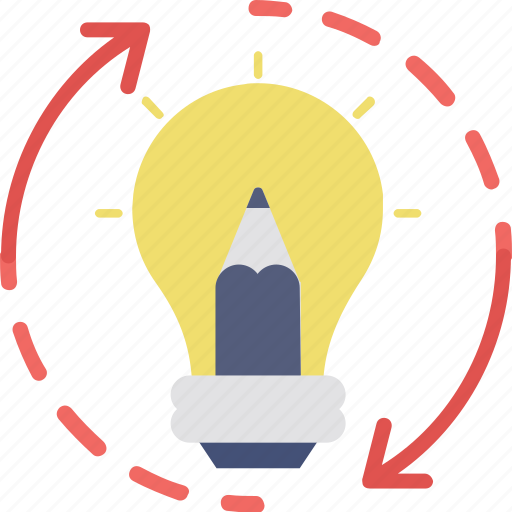 business idea, creative processing, creativity, innovation, invention icon