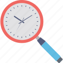 clock, magnifier, magnifying time, time vision, timer icon