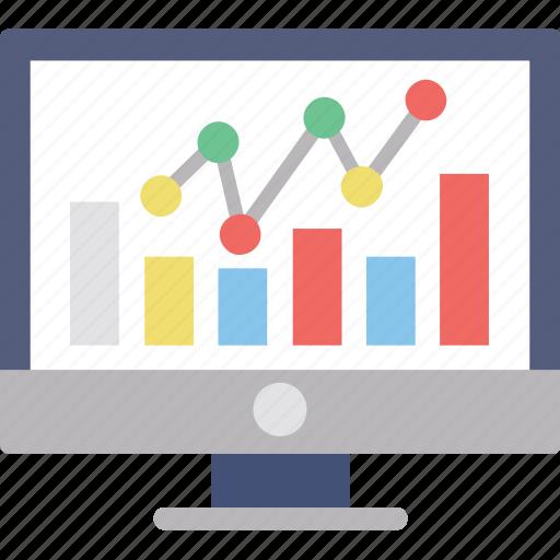 analysis, online analytics, online graph, seo graph, statistics icon
