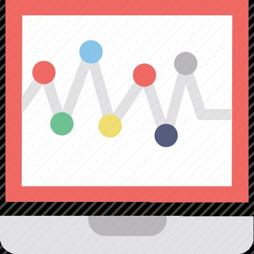 analysis, line graph, online graph, seo graph, statistics icon