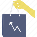 sales graph, sales growth, sales increase, sales progress, shopping graph icon