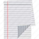 blank paper, paper, script, sheet, stationery icon