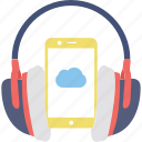 cloud computing, icloud, mobile media, music, sound icon