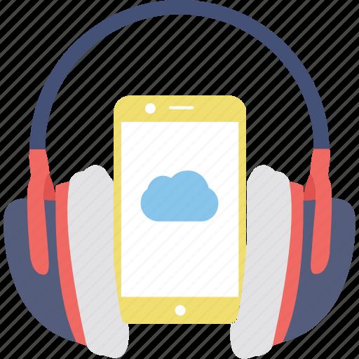 cloud computing, icloud, mobile media, music, sound icon