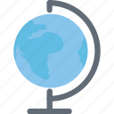 desk globe, geography, globe, table globe, terrestrial globe icon