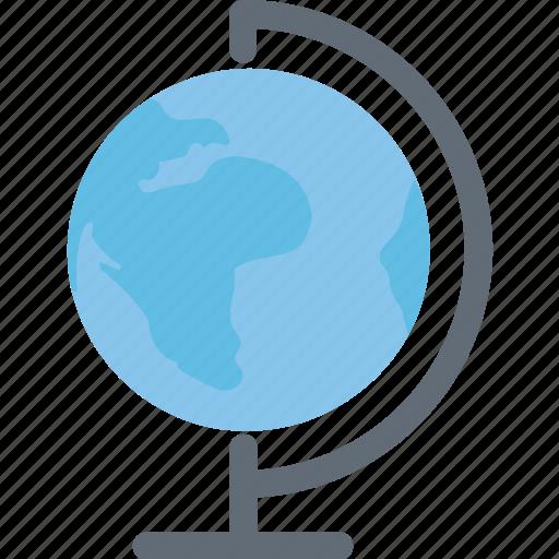 desk globe, geography, globe, table globe, terrestrial globe icon
