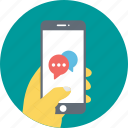 mobile chat, mobile conversation, mobile message, sms, sms service