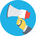 advert, advertisement, announcement, bullhorn, loudhailer icon