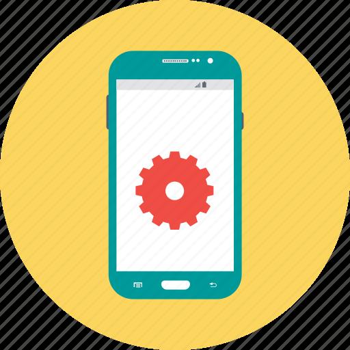 android settings, app development, app maintenance, app settings, mobile settings icon