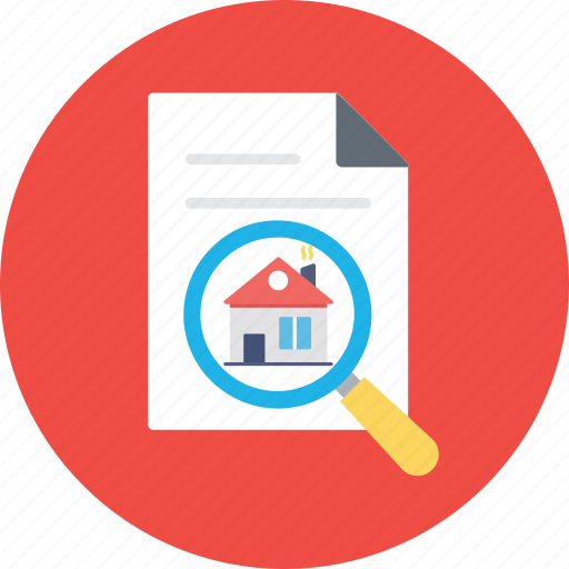 find home, home document, property contract, property papers, real estate icon