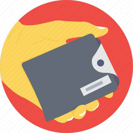 expense, investment, payment, savings, wallet hand icon
