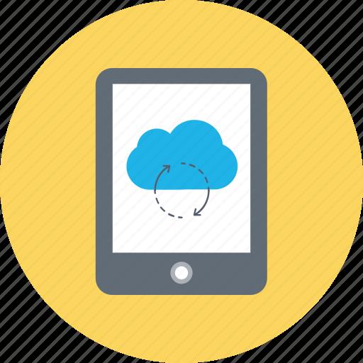 cloud computing, cloud sync, computing, icloud, technology icon