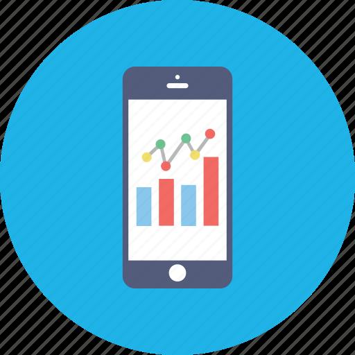 data visualization, mobile app, mobile dashboard, mobile graph, mobile ui icon
