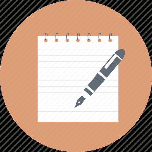 article, compose, paper, script, writing icon