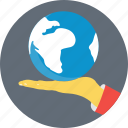 earth, globe, map, planet, world map icon