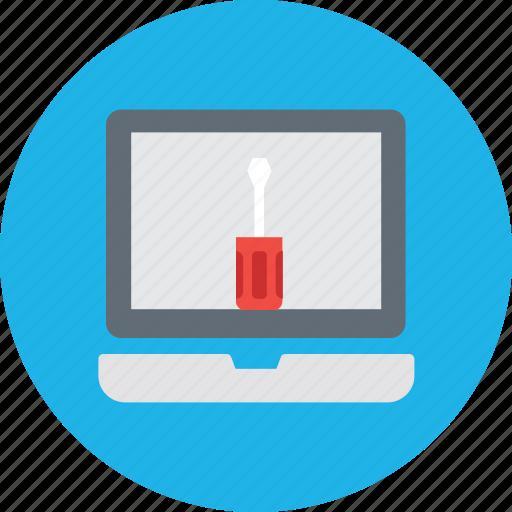 faptopixing, laptop repair, mac repair, pc repair, technical support icon