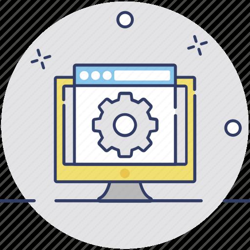 programming, web customization, web development, web preferences, web setting icon