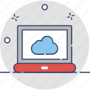 cloud computing, cloud internet, cloud screen, icloud, technology icon