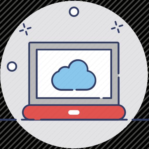 cloud computing, cloud internet, cloud screen, icloud, technology icon