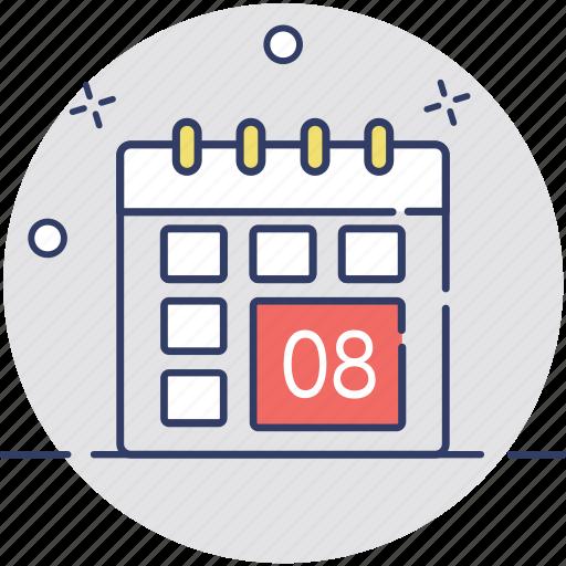 calendar, event, schedule, timeframe, yearbook icon