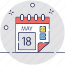 calendar, event, schedule, timeframe, yearbook icon