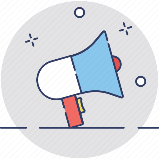 advert, advertisement, announcement, bullhorn, loudhailer icon