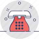 call, communication, contact us, landline, telephone icon