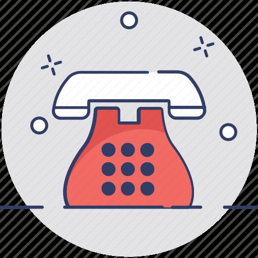 call, communication, contact us, landline, telephone icon