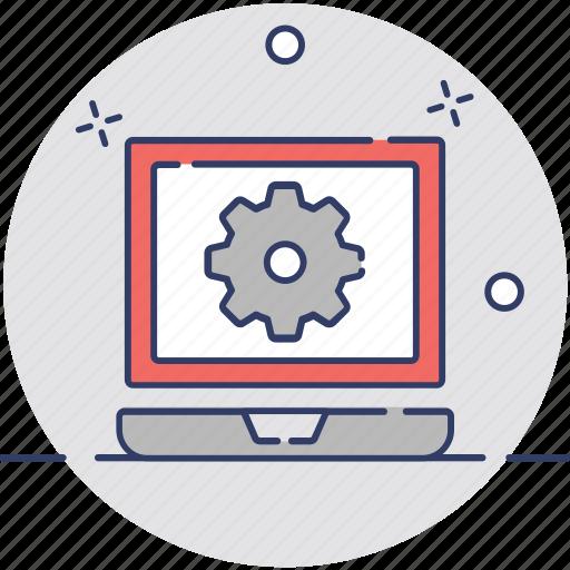 programming, web cog, web configuration, web development, web setting icon