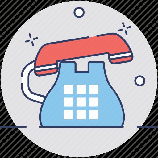 call us, contact us, landline, phone, retro phone icon