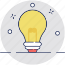 bulb, bulb idea, innovation, light bulb, solution icon