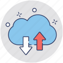 cloud computing, cloud data, cloud network, cloud sharing, cloud transfer icon