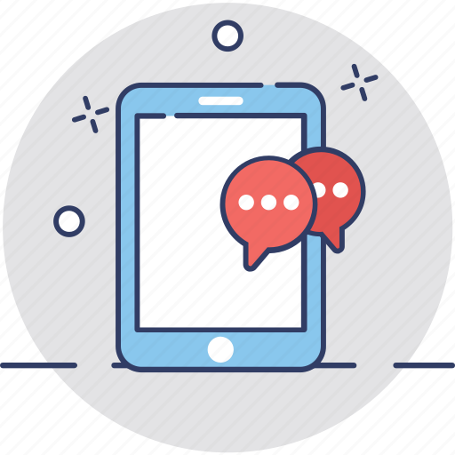 mobile conversation, mobile message, sms, sms marketing, text messaging icon