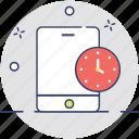 mobile alarm, mobile app, mobile time, mobile timer, mobile ui icon