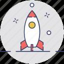 missile, rocket, spacecraft, spaceship, startup