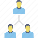 employee hierarchy, leadership, organization management, organization structure, people hierarchy icon