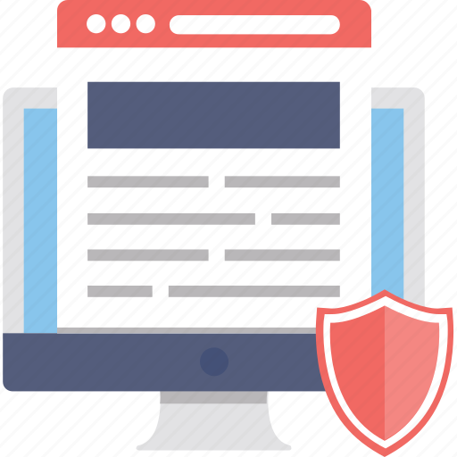 data protection, information security, secured access, secured website, web security icon