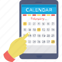 digital calendar, event, mobile calendar, online calendar, timeframe icon