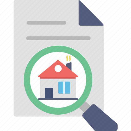 home document, property contract, property documents, property papers, real estate icon