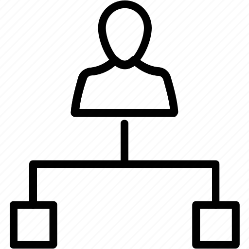 employee hierarchy, leader, organization management, organization structure, people hierarchy icon
